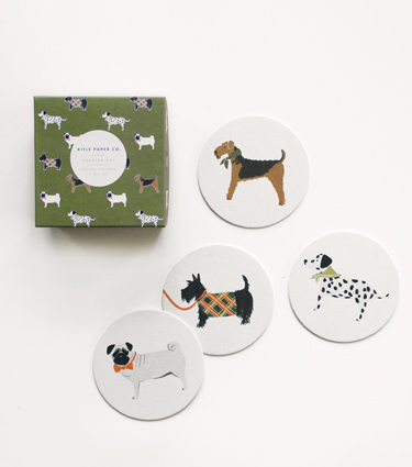 Rifle Paper Co. - Canine Coaster Set