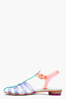 Sophia Webster Purple & Green Colorblocked Violeta Sandals for women | SSENSE
