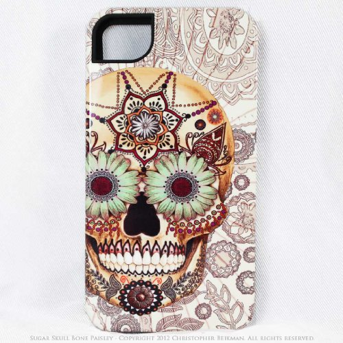 Fits Apple iPhone 4 and 4s – u Sugar Skull iPhone 4 case – iPhone 4s case – premium TOUGH iPhone 4 cover – Dia De Los Muertos By:james boley | best cell phone case