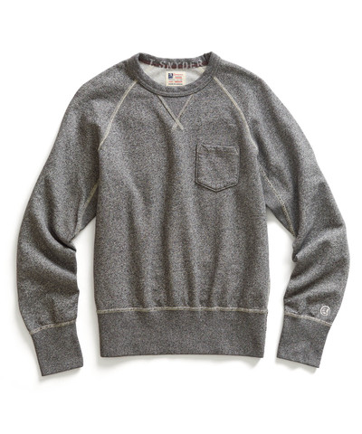 Grey Heather Pocket Sweatshirt by Todd Snyder