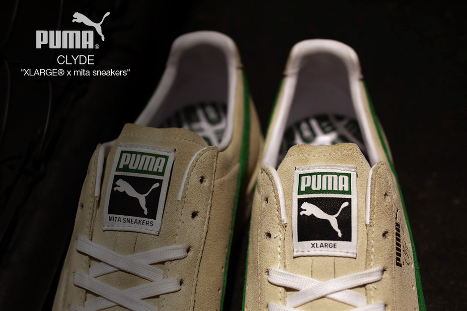 ... XLARGE mita Puma Clyde Collab Cream Green  4d0865b1d
