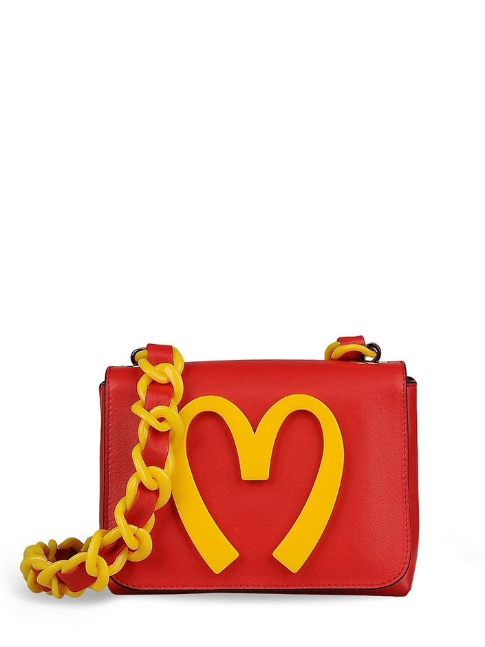 MOSCHINO SPECIAL EDITION FW14 - CAPSULE COLLECTION SMALL LEATHER BAG - LUISAVIAROMA - LUXURY SHOPPING WORLDWIDE SHIPPING - FLORENCE