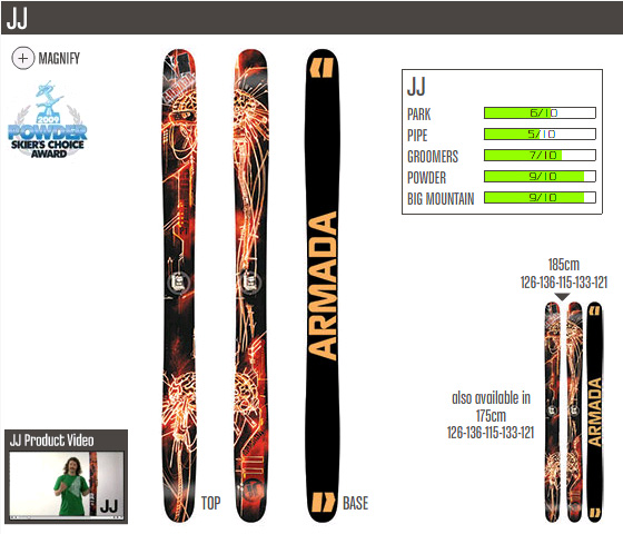 JP Auclair and Julien Regnier's Armada JJ Skis Redesigned | The Skiers Realm