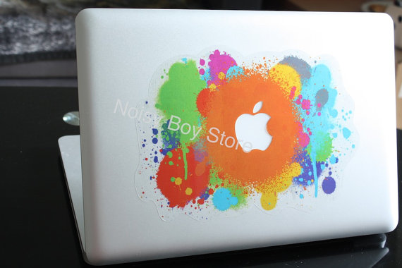 Colorful Apple Splash Apple Macbook Air Pro by NoisyBoyStore