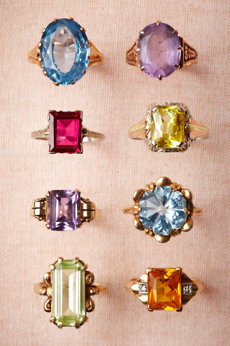 Vintage Cocktail Rings in Bridesmaids & Partygoers Jewelry at BHLDN