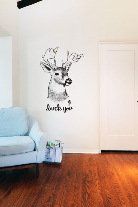 Blik Wall Decals: Buck You by Jeremy Fish