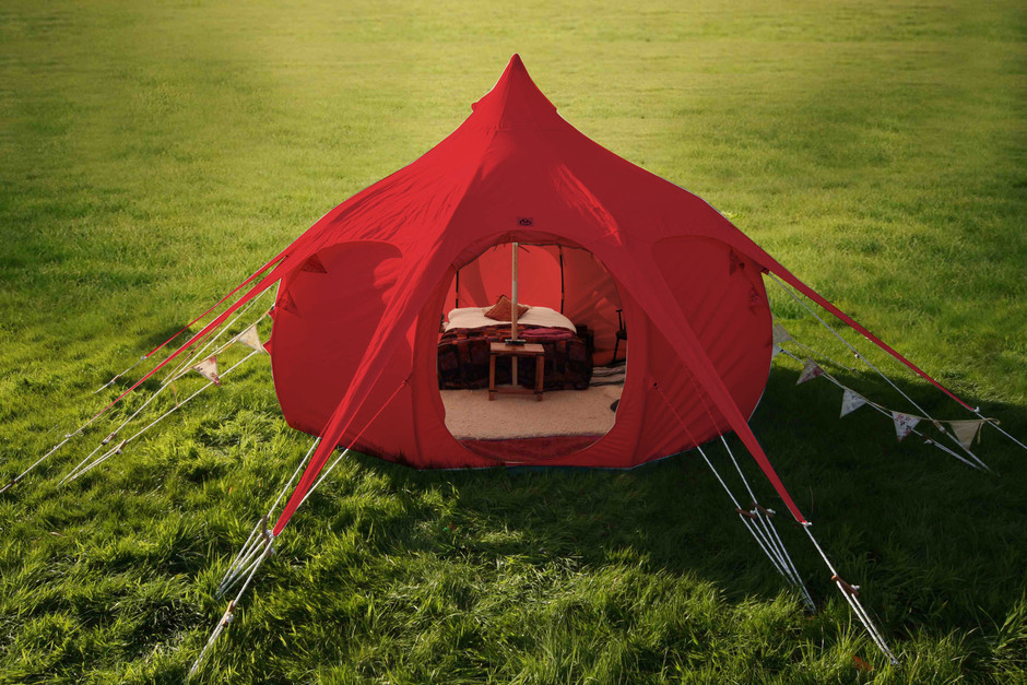 Limited Edition 16ft Lotus Belle Red Outback Tent – Lotus Belle USA