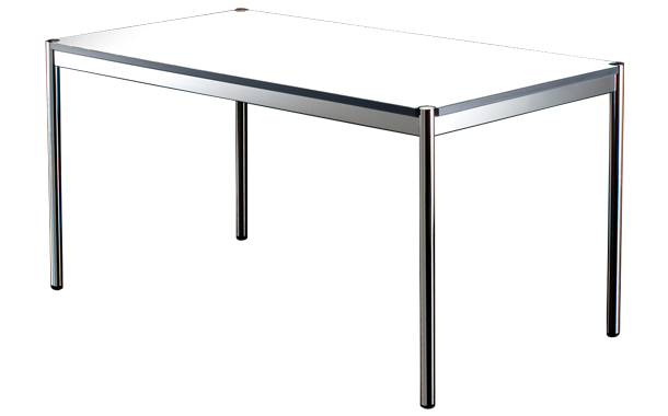 Usm haller table laminate pearl grey sumally for Table quiz hannover