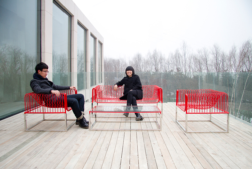 mesh sofa by people's industrial design office