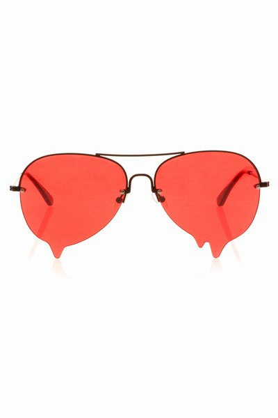 ANN-SOFIE BACK DRIPPING SUNGLASSES - RED - JUST IN - OPENING CEREMONY