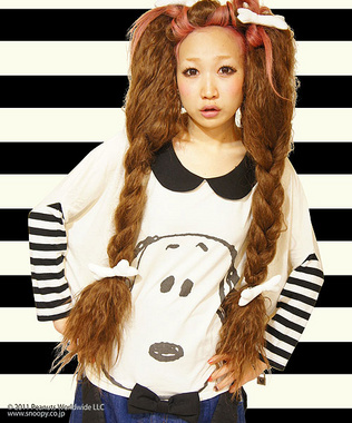 Candy Stripper ONLINE SHOP | HEY! HELLO! SNOOPY TOPS | OFF WHITE/OFF WHITE×BLACK