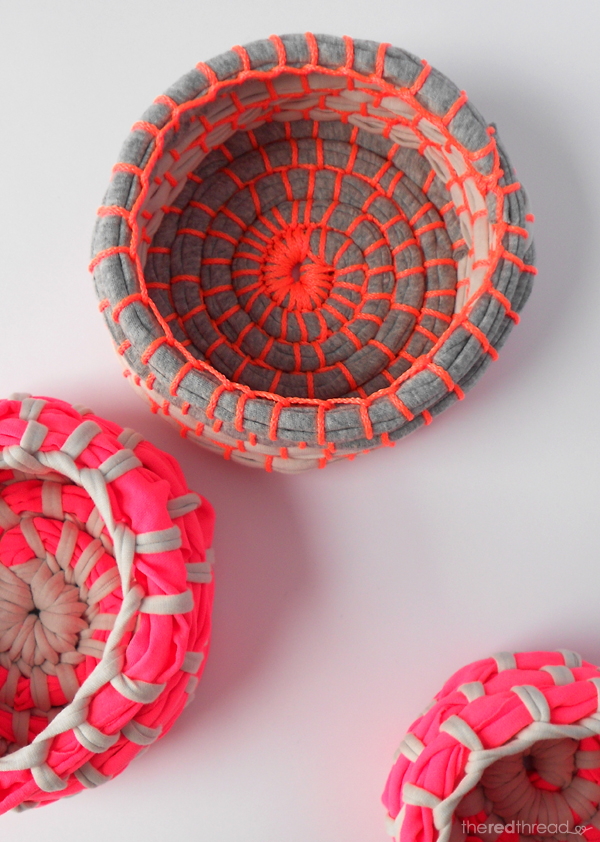 How to make a fabric coil bowl or basket | The Red Thread