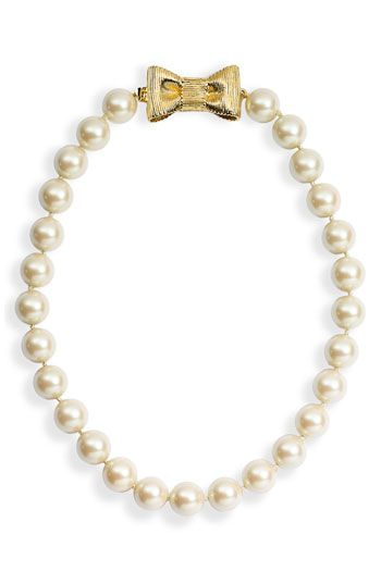kate spade new york 'all wrapped up' glass pearl short ... | inspire