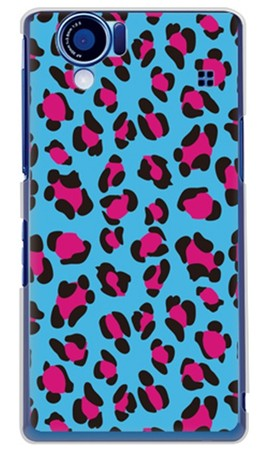 Leopard ブルー (クリア) design by ROTM / for AQUOS PHONE SH-01D/docomo