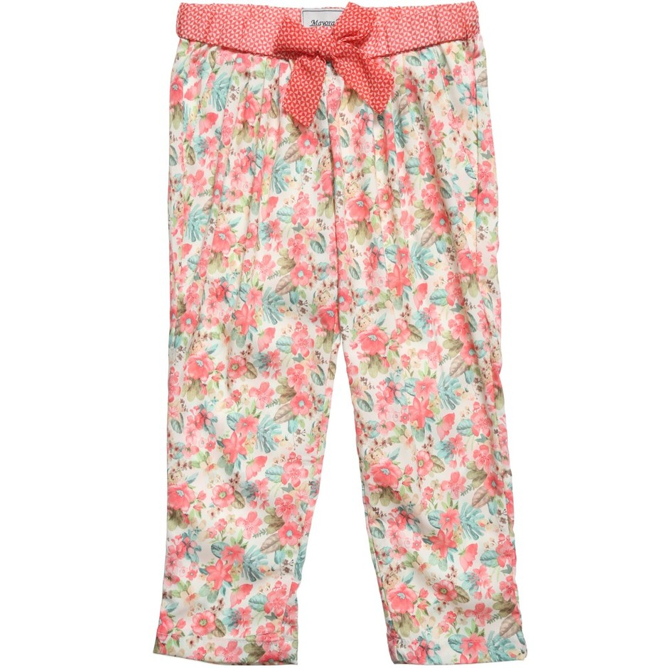 Mayoral - Floral Printed Lightweight Trousers | Childrensalon