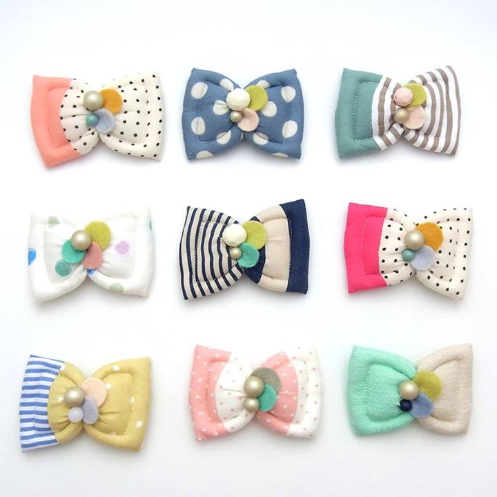 Kid Friendly NEW Colors Fuwa Bow Hair Clip by HOMAKO on Etsy