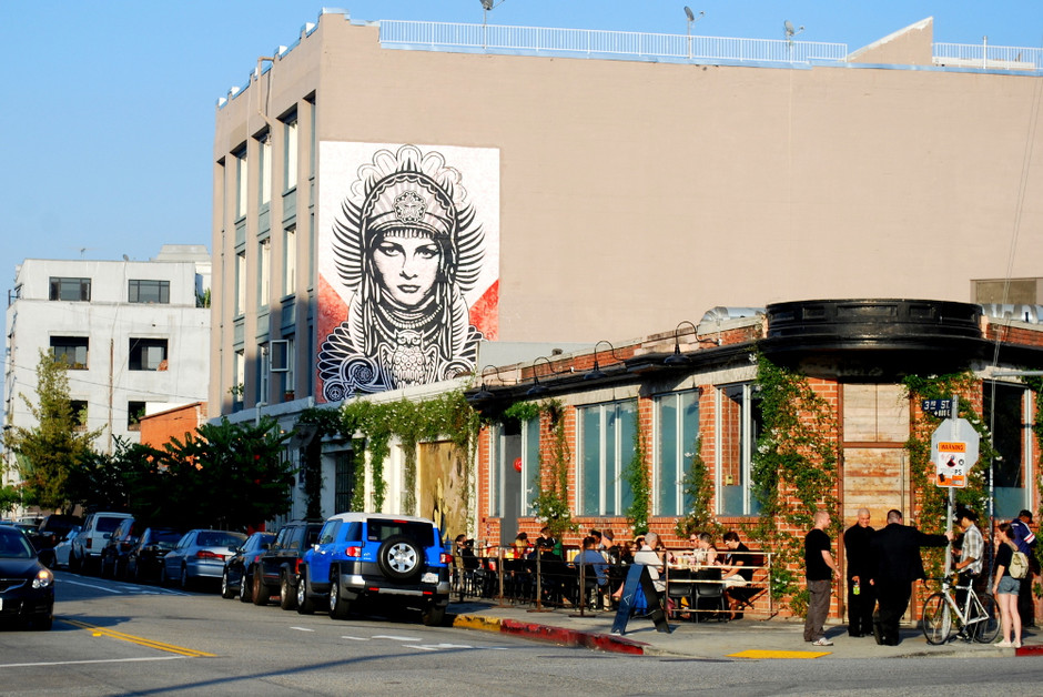 OBEY Peace Goddess - Arts District Downtown L.A.