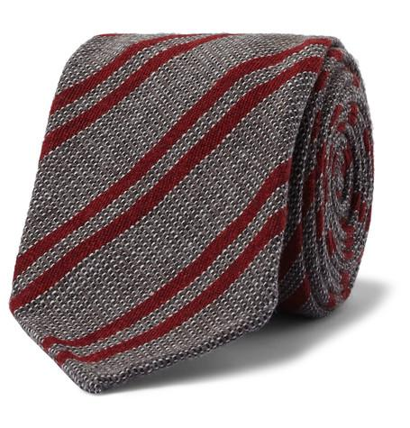 Berluti - 8cm Striped Wool, Cashmere and Silk-Blend Tie