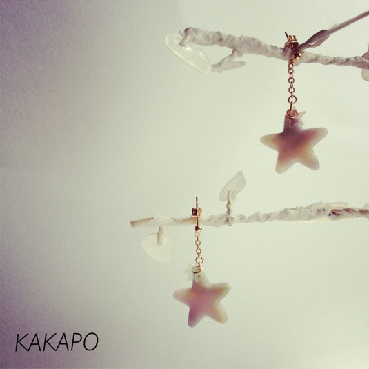 KAKAPO'S GALLERYのStar P × G × W long pierce (NO.412) | webのレンタルボックス minne(ミンネ)