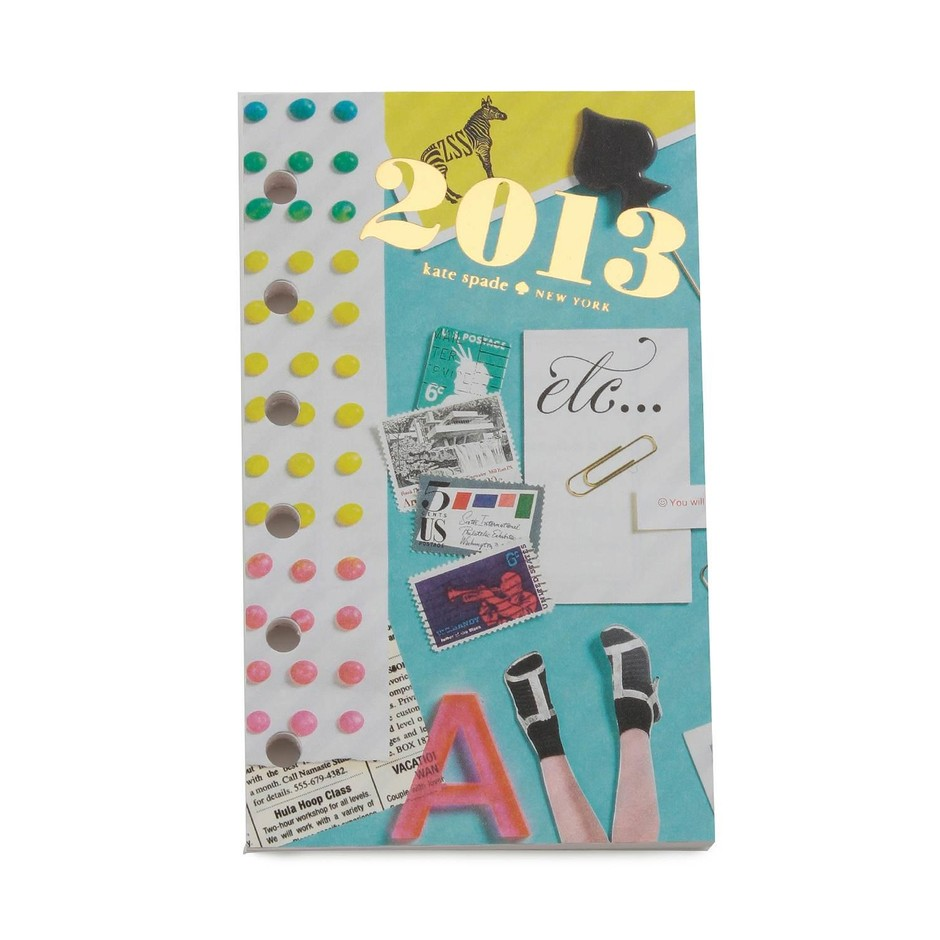 kate spade new york / 2013 calendar items 2013 pocket weekly & monthly refill