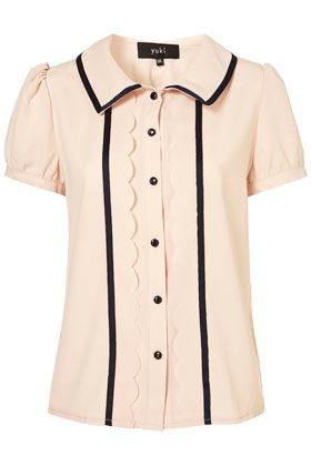 Double Trim Blouse by Yuki** - Tops - Clothing - Topshop