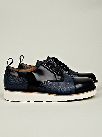 Carven Men's Leather Mix Shoe with Vibram Sole at セレクトショップ oki-ni