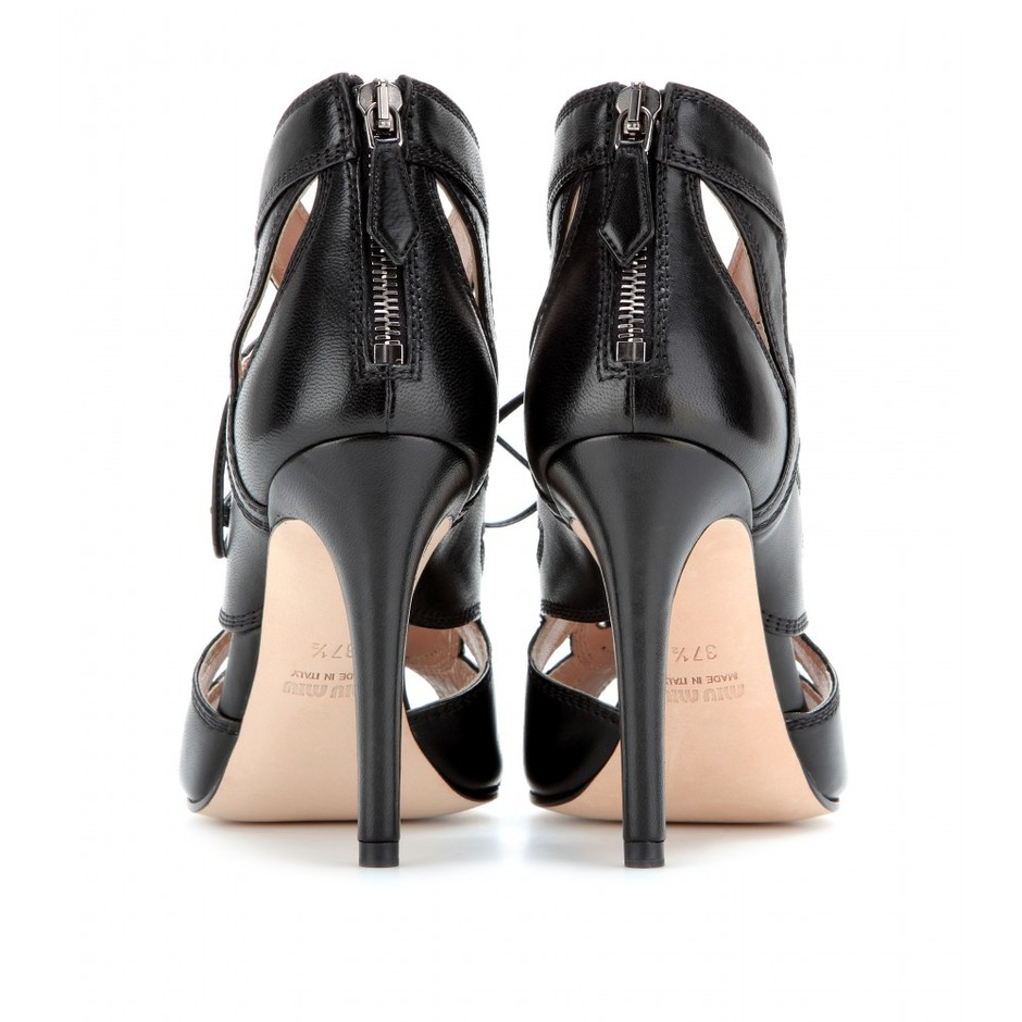 mytheresa.com - Leather sandals - high heel - booties - shoes - Luxury Fashion for Women / Designer clothing, shoes, bags