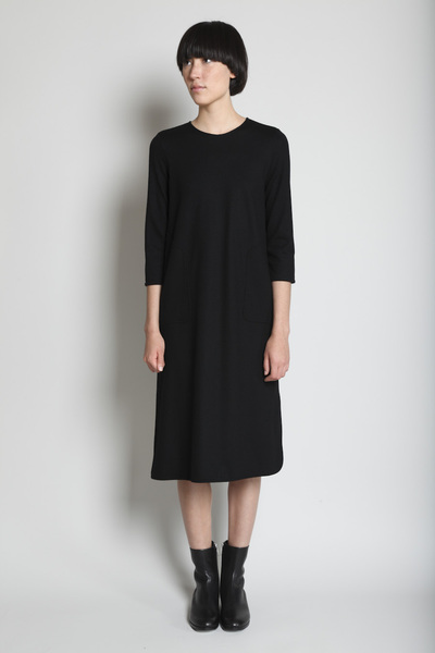 TOTOKAELO - Jil Sander - Two Pocket Dress - Black