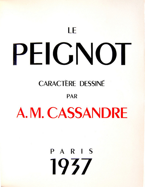 Peignot typeface by A. M. Cassandre | Flickr - Photo Sharing!