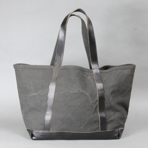 AGING CANVAS / BASIC TOTE (BLACK)   evergreen works