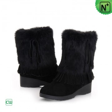Black Snow Boots for Women CW332104