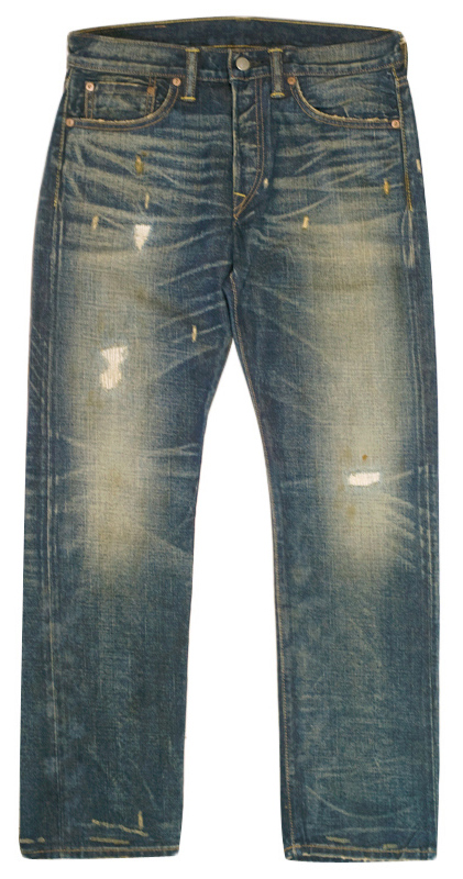 JEANS > LOW STRAIGHT - RRL NEVADA WASH HAND REPAIRED JEAN (LOW STRAIGHT) - KOOKY CHUNK