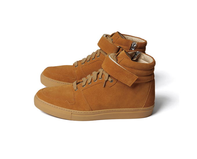 SOPHNET. | PRODUCT | VELCRO STRAP HIGH-TOP ZIP UP LEATHER SNEAKER