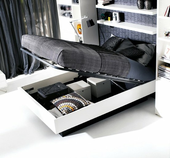 Bo Concept Hydraulic Storage Bed | Apartment Therapy