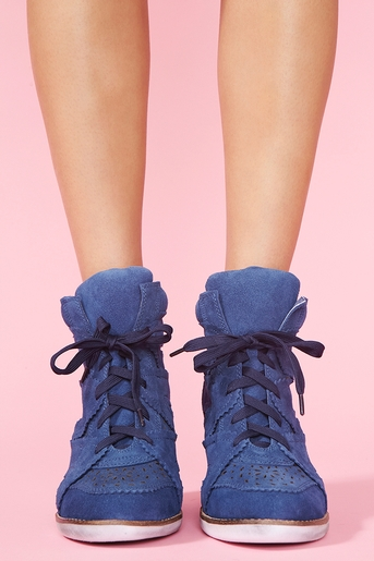 Venice Wedge Sneaker - Blue in Shoes Flats + Sneakers at Nasty Gal