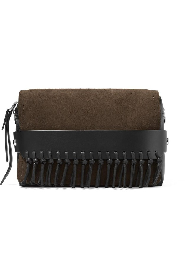 3.1 Phillip Lim | Bianca small fringed suede and leather shoulder bag | NET-A-PORTER.COM