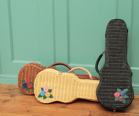 UKULELE BAG with Applique - 花とギター