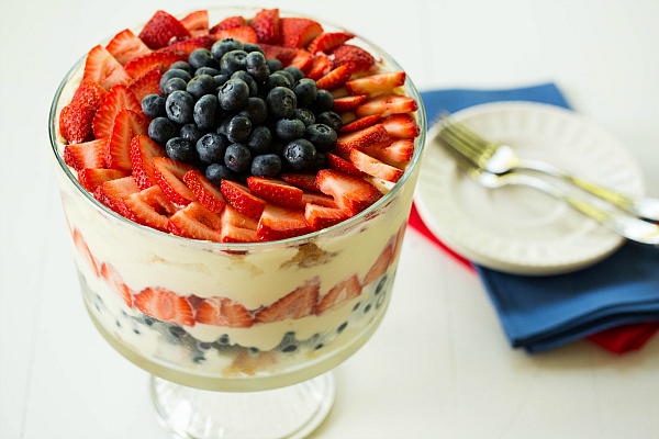 Red, White & Blue Berry Trifle | Brown Eyed Baker