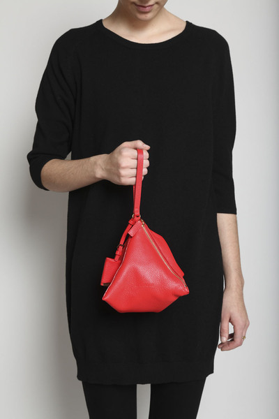 TOTOKAELO - Jil Sander - Square Evening Bag - Red Pepper