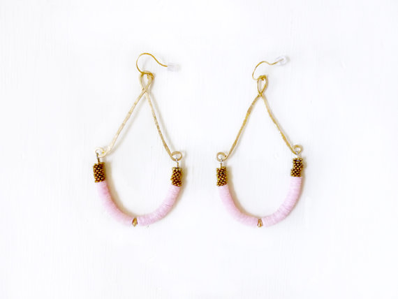 Cotton Candy Earrings by KimDulaney on Etsy