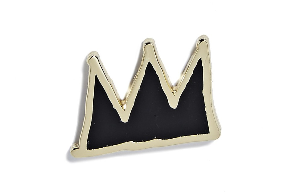 Jean-Michel Basquiat - Crown Pin - Black and Gold – PINTRILL