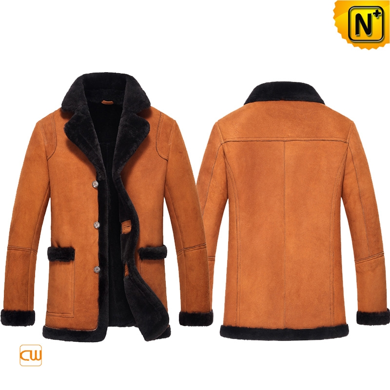 Suede Shearling Sheepskin Jacket for Men CW852206