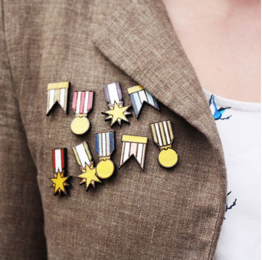 Fancy - Ribbon Medal Badges