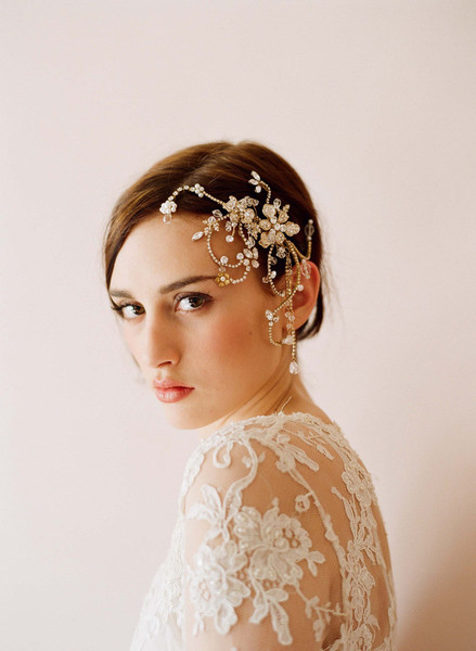 Dazzling twisted rhinestone and pearl headpiece - Style # 245 | Headpieces | Twigs & Honey ®, LLC