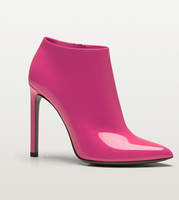hot pink / Gucci Gloria patent leather high heel bootie