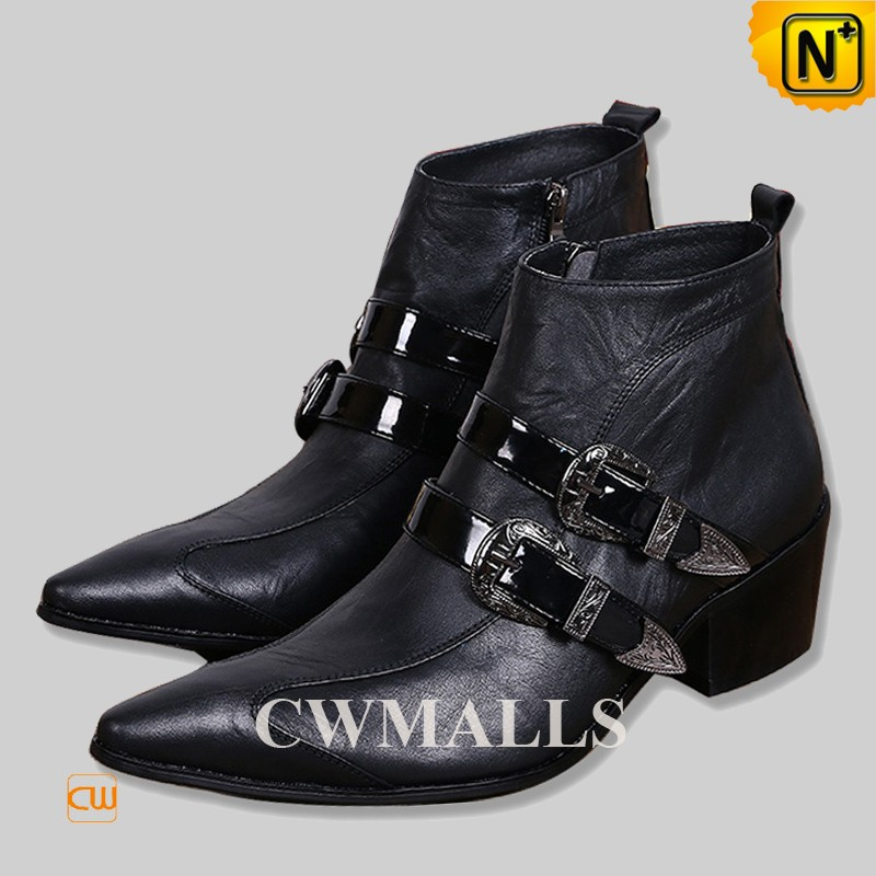 CWMALLS® Pointed Toe Italian Leather Boots CW750227