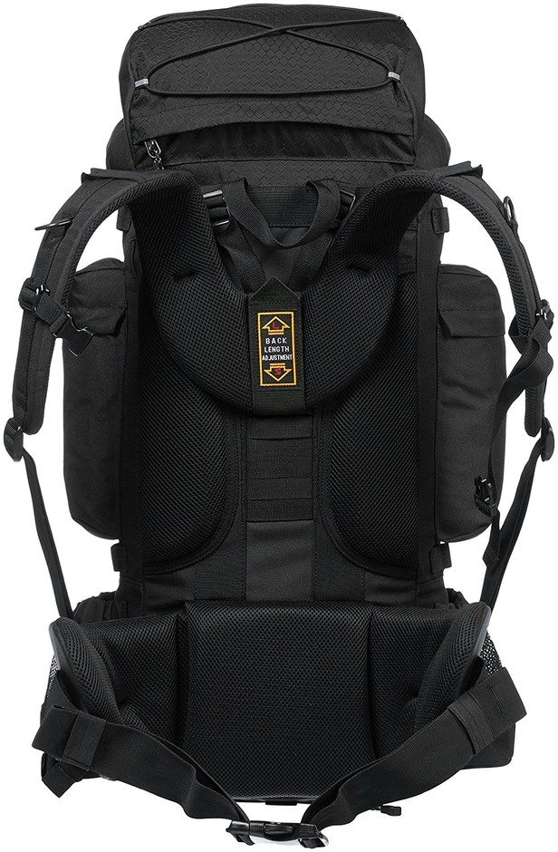 Amazon.com : AmazonBasics Internal Frame Hiking Backpack with Rainfly, 55 L, Black : Sports & Outdoors