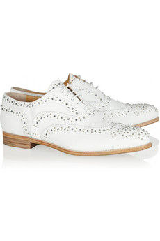 Church's | Burwood Glame embellished leather brogues | NET-A-PORTER.COM