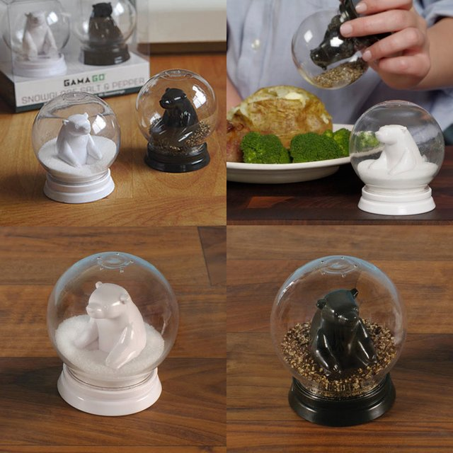 Fancy - Snowglobe Salt & Pepper Shakers