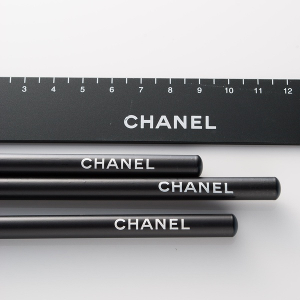 Chanel / Luxury Stationary - Chanel Pencils and Ruler.